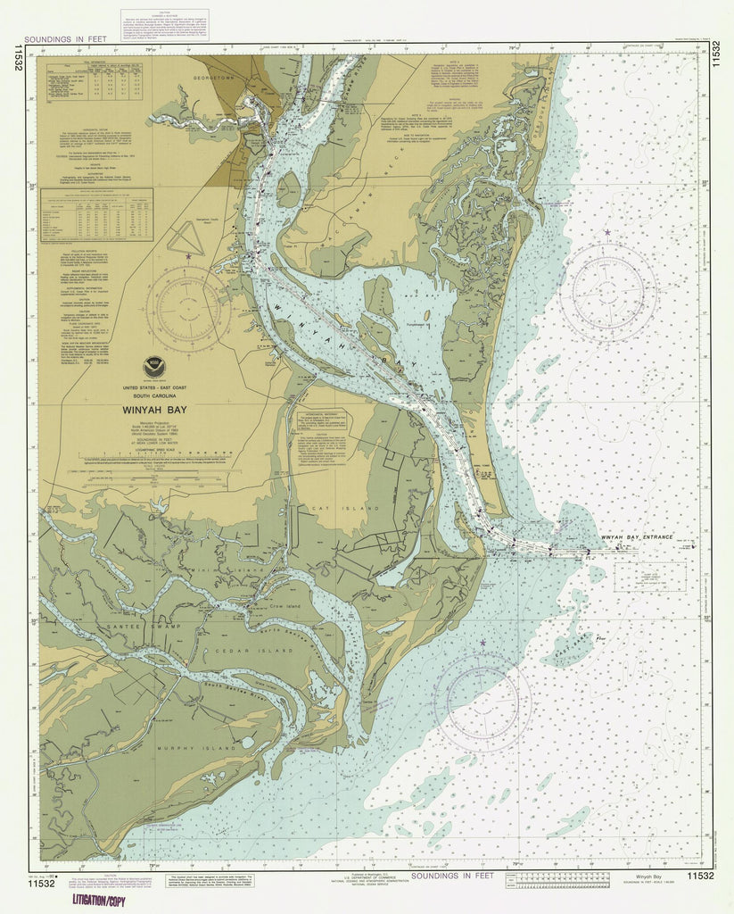 Winyah Bay Map 1990