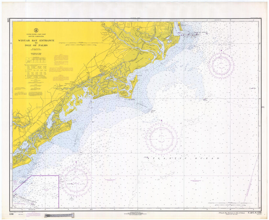 Winyah Bay and Isle Palms Map 1979