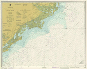 Winyah Bay to Isle Palms Map 1979