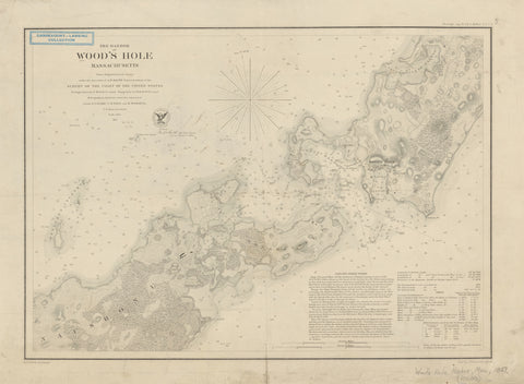 Woods Hole Passage Historical Chart 1857