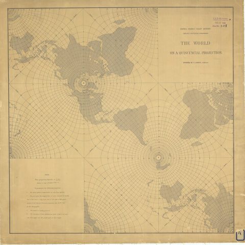 The World on a Quincuncial Projection Map 1904