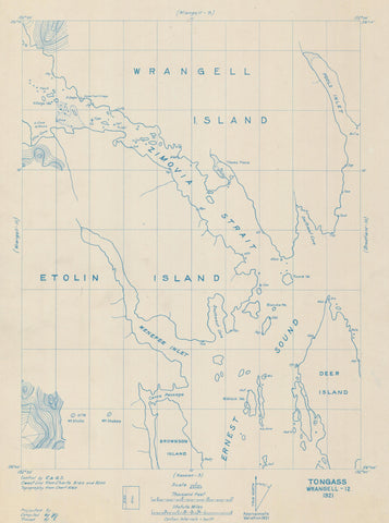 Wrangell and Etolin Islands Map 1921