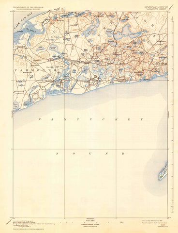 Yarmouth Cape Cod Topographic Map - 1893