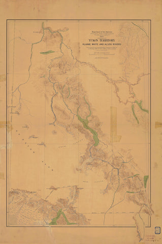 Yukon Territory - Kluane, White & Alsek Rivers Map 1905