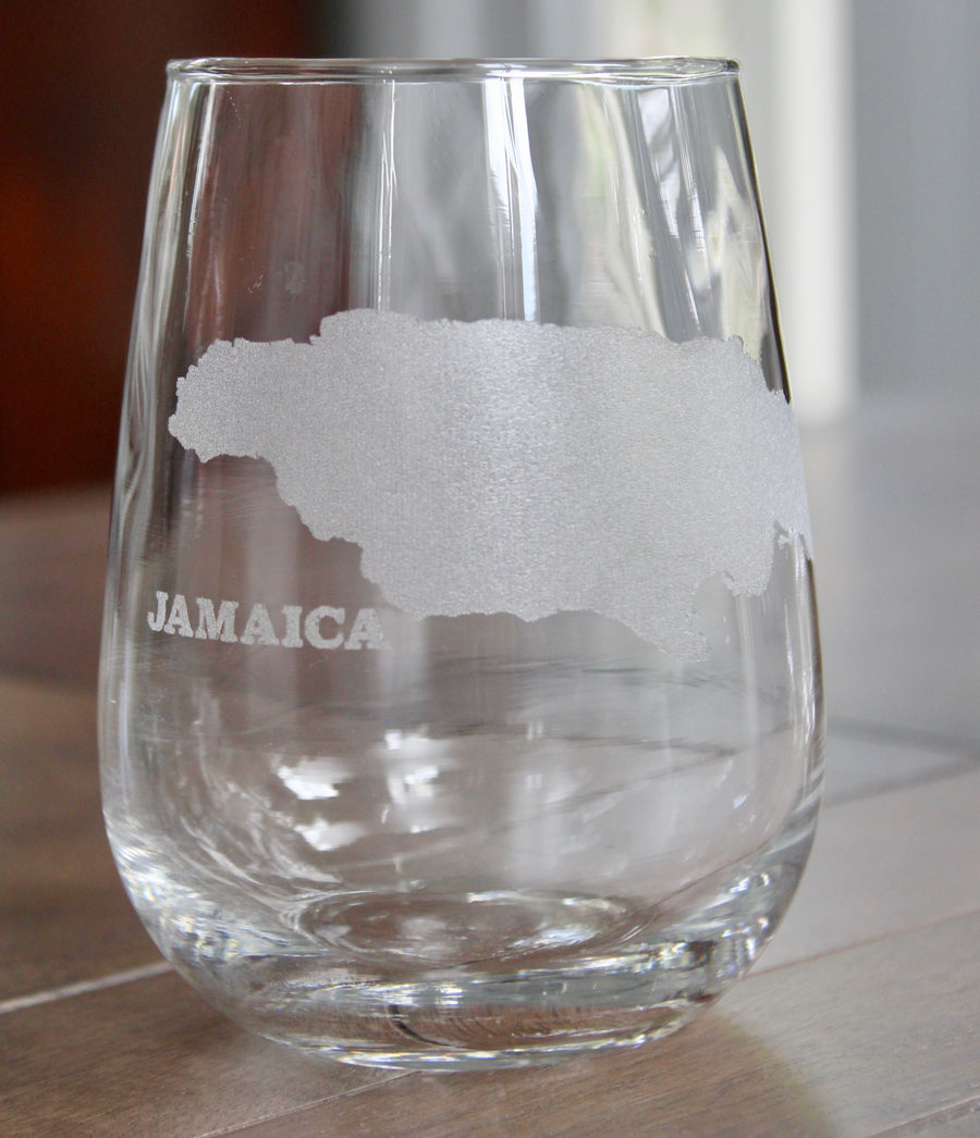 Jamaica Map Glasses