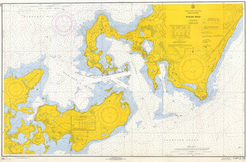 Woods Hole Passage Historical Chart (1966)