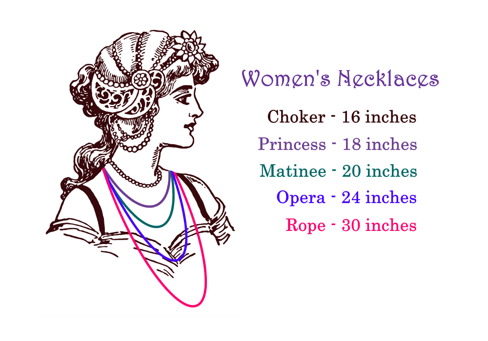 Women's Necklaces Size Chart