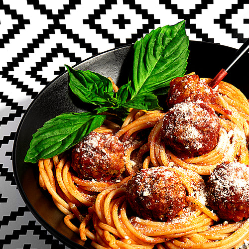 Spaghetti + Meatballs for Two