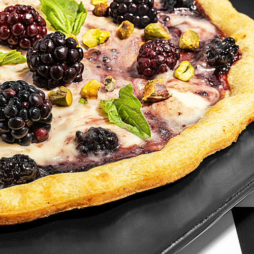Blackberry Basil Pizza with Lemon Mascarpone