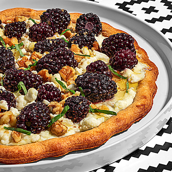 Grilled Blackberry and Goat Cheese Pizza