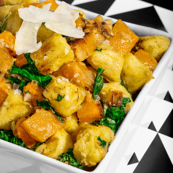 Creamy Gnocchi with Butternut Squash and Kale