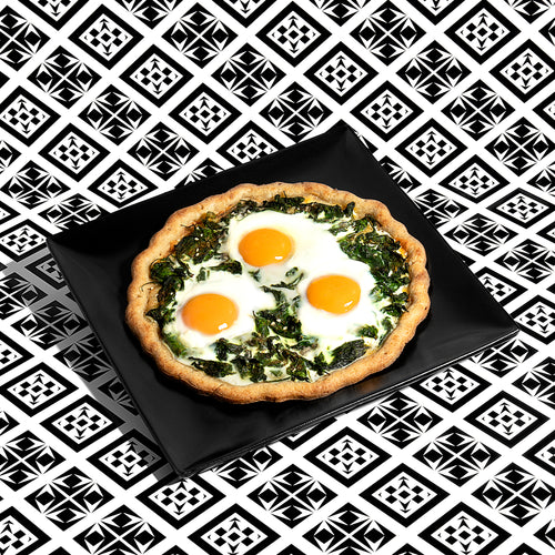 Middle Eastern Egg Pizza
