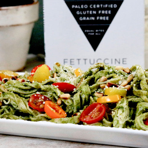 St. Patty's Day Fettuccine with Cilantro Pesto