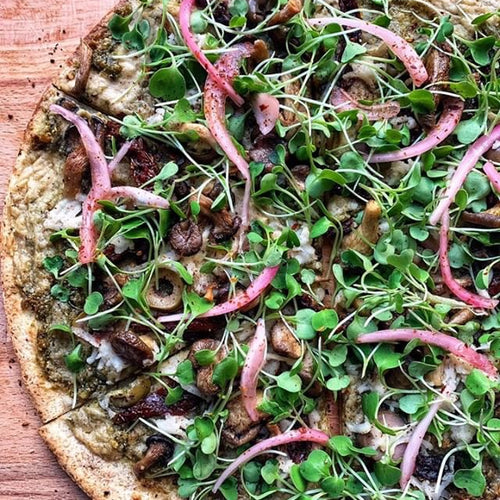 Vegan Pesto Pizza
