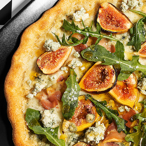 Fig, Pancetta, and Gorgonzola Pizza