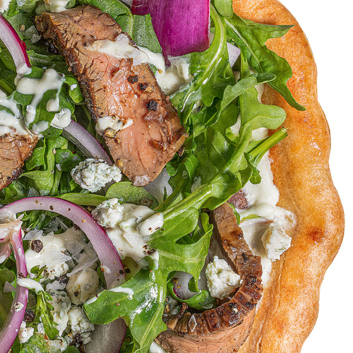 Flank Steak + Blue Cheese Pizza
