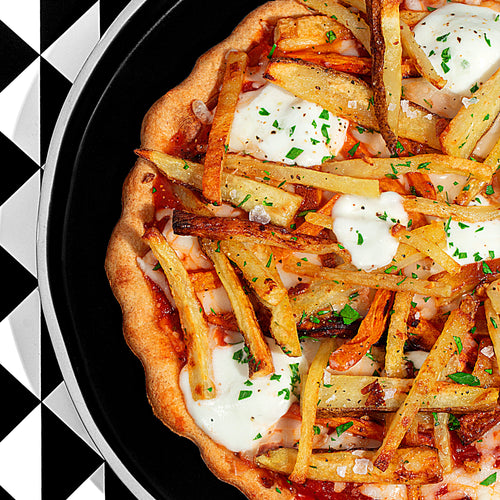 Grilled French Fry Pizza
