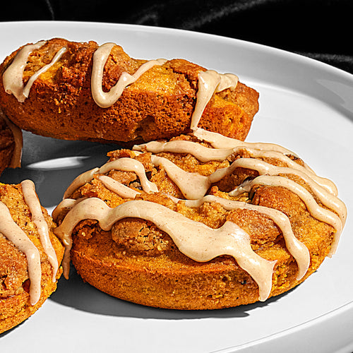 Baked Cookie Dough Pumpkin Donuts