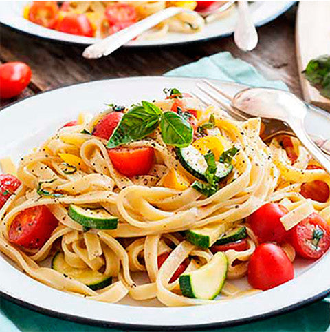Gluten Free, Paleo Friendly Summer Garden Pasta Recipe