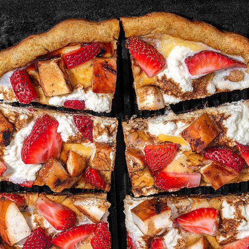 Grilled Strawberry Chicken Ricotta Pizza