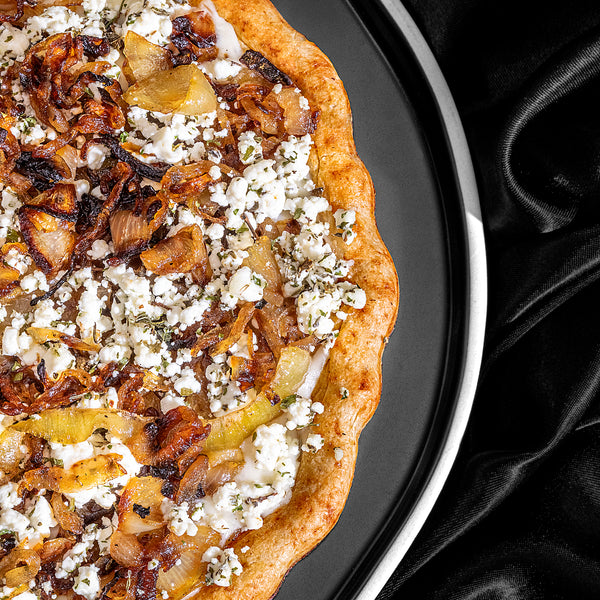 Caramelized Onion and Herbed Goat Cheese Pizza