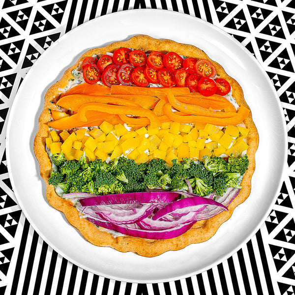 Rainbow Pride Pizza (Grilled)