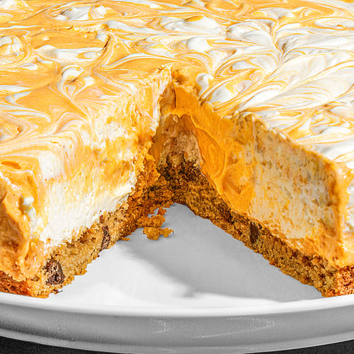 No-Bake Pumpkin Cheesecake with Cookie Dough Crust