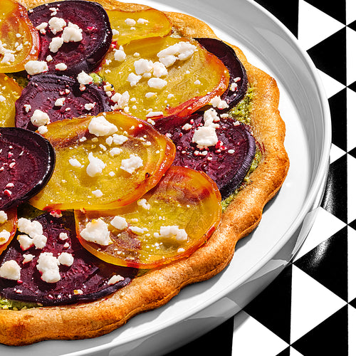 Roasted Beet and Pesto Pizza