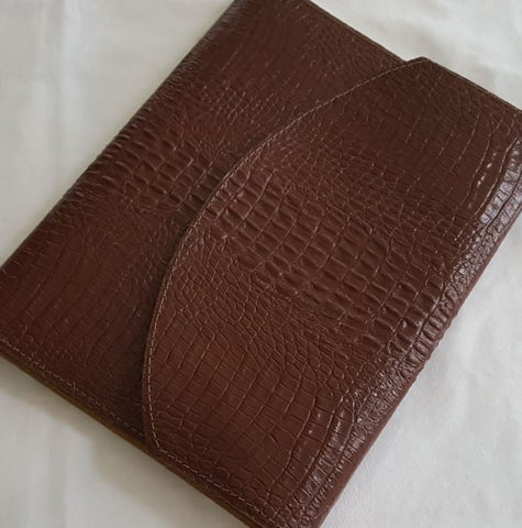 Double Wrap-Around Leather Discbound Notebook Cover