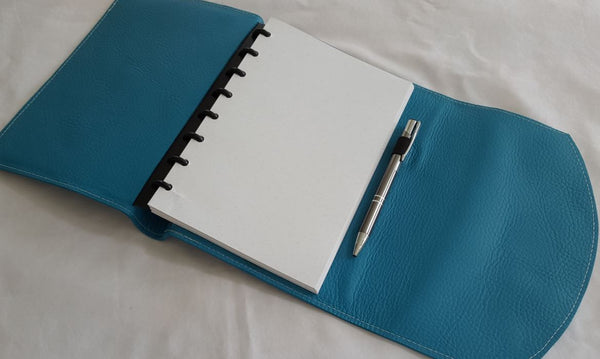 Double wrap around leather discbound notebook cover for For planner
