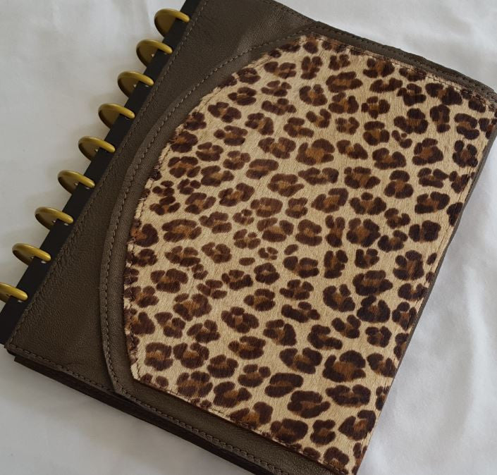 Reversible Wrap-Around Leather Discbound Notebook Cover