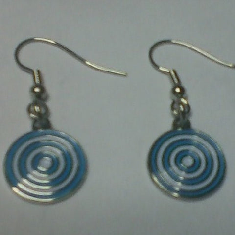 "Earrings – ""Urantia"" Cloisonne French Wires"