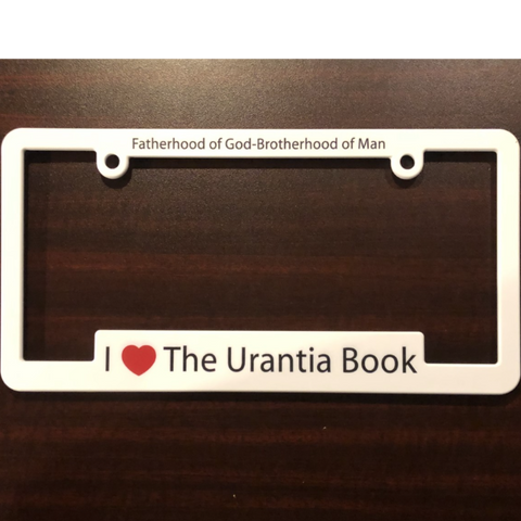"License Plate Holder – ""I ❤️ The Urantia Book"""
