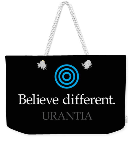 Weekender Tote – Believe Different Urantia Logo