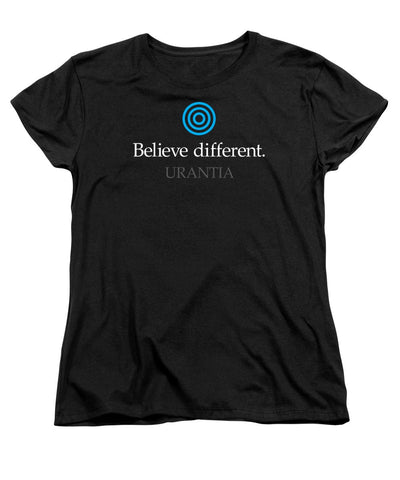 T-Shirt – Believe Different Urantia Logo Standard Fit (Ladies)