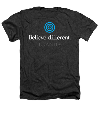 "T-Shirt – ""Believe Different Urantia"" Heather (Adult)"