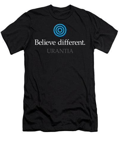 "T-Shirt – ""Believe Different Urantia"" Athletic Fit (Mens)"