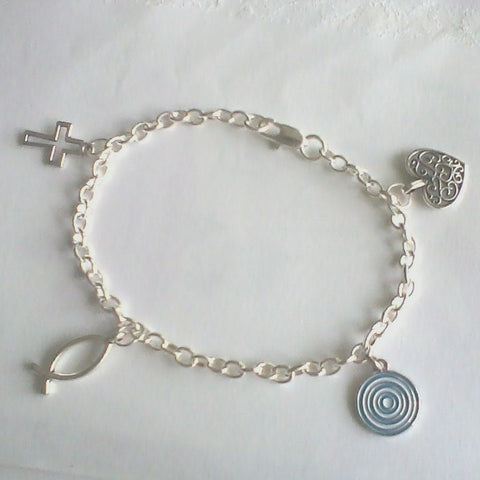 "Bracelet – ""Urantia"" & Faith Charms"