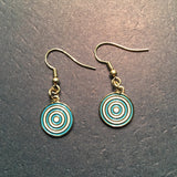 Earrings - Cloisonne French Wires Urantia Logo