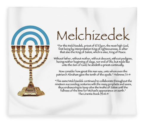 Blanket - Plush or Fleece Melchizedek