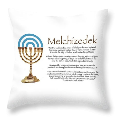 "Throw Pillow – ""Melchizedek"" Design"