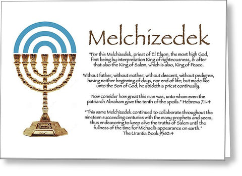 "Greeting Card – ""Melchizedek"""