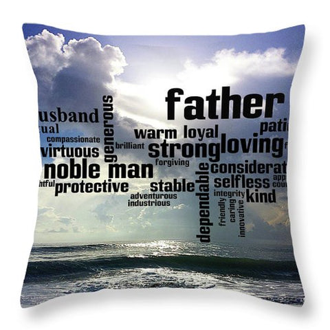 "Throw Pillow – ""Noble Man"" Design"