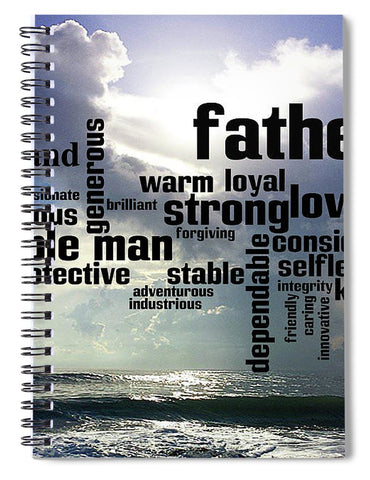 Spiral Notebook w/Noble Man Design