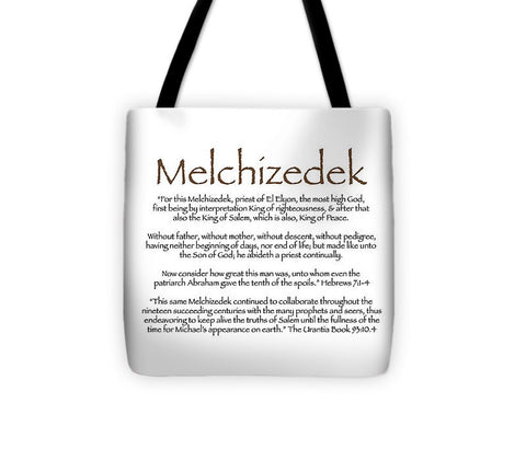 "Tote Bag – ""Melchizedek"" Text Only"