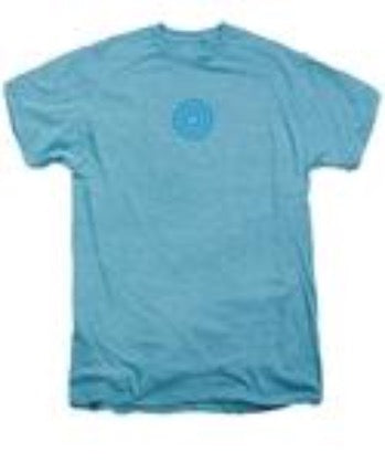 "Men's T-Shirt - 3"" Logo on Sky Heather"