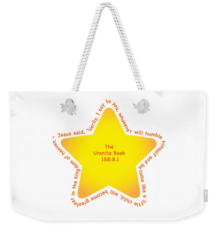 Weekender Tote Bag w/Star Design