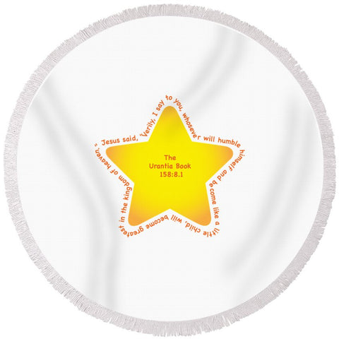 "Round Beach Towel – ""Star Child"""