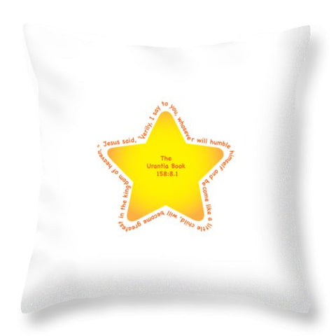 "Throw Pillow – ""Star Child"""