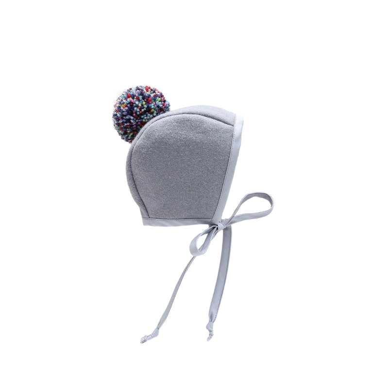 Crackle! Pom Bonnet Silk-Lined